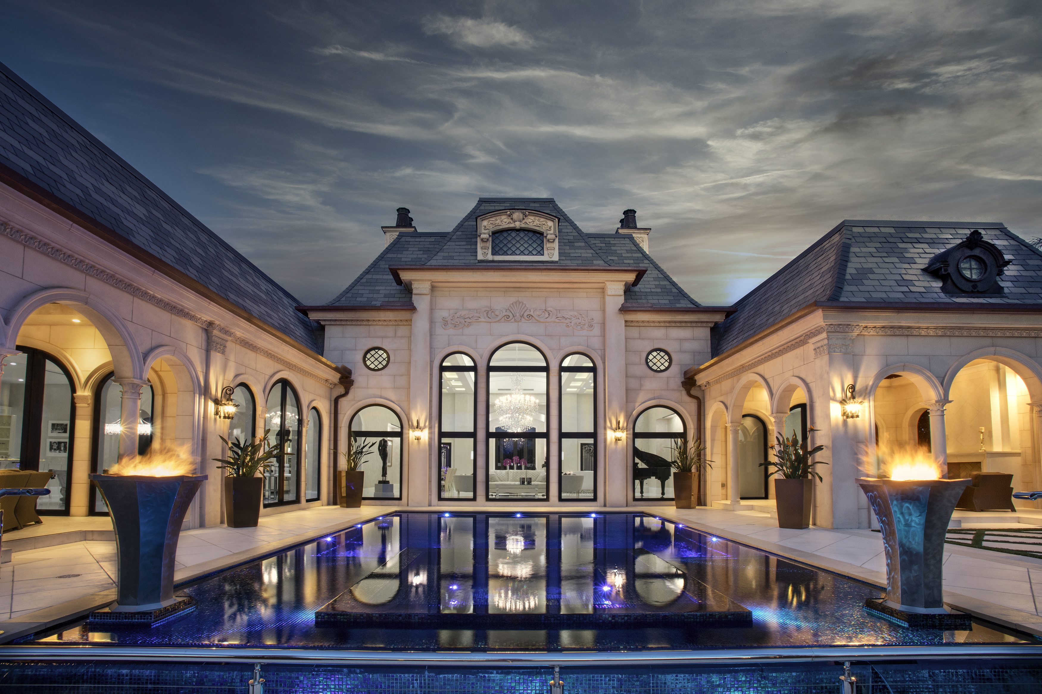 Back Exterior w Pool sunset1_PD