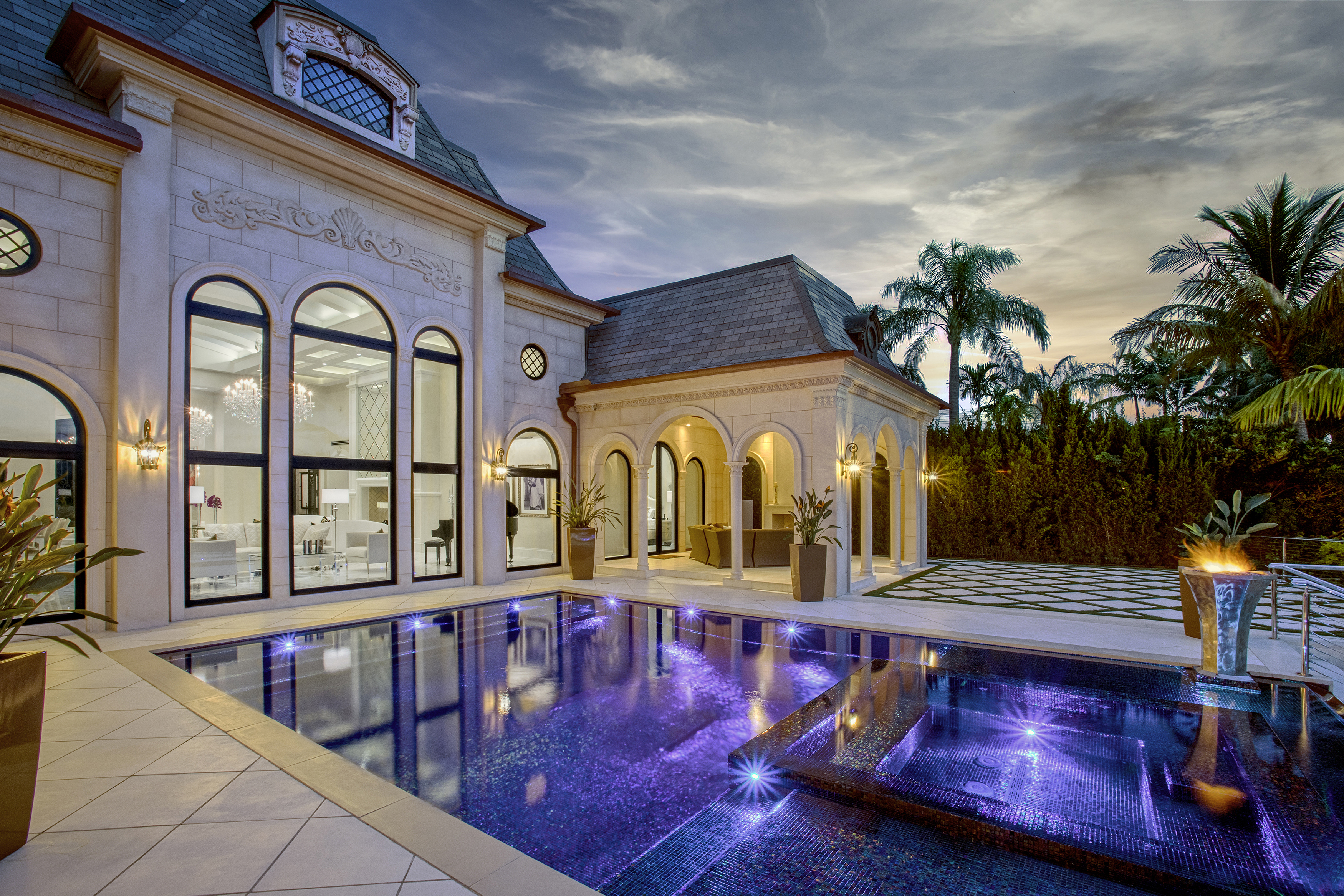 Back exterior Pool2 sunset1_PD